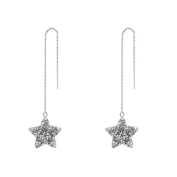Goodnight conte de fées personnalité coréenne éblouissante oreille étoile boucles d'oreilles femme étoile pentagonale douche Su oreille marée des ongles E725