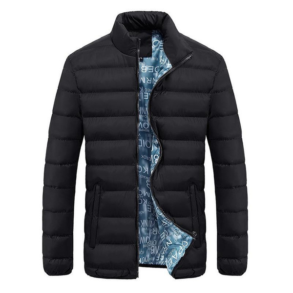 New Jacket Men 2018 Autumn Winter Cool Design Hip Hop Outwear Brand Clothing Fashion Solid Male Windbreaker Mens Jackets M-4XL