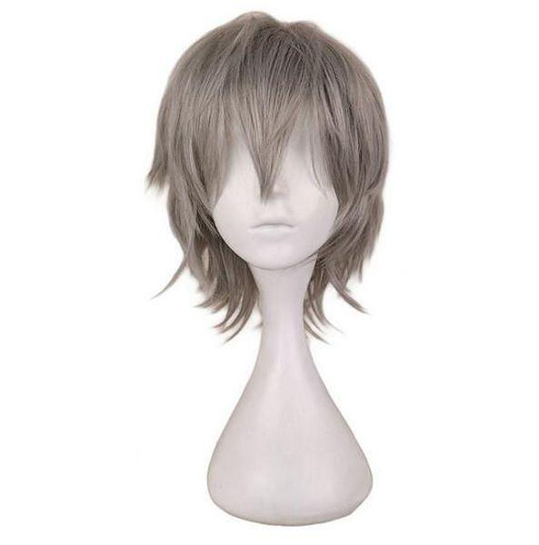 Men Short Grey Sliver Gray Cos Cosplay Wig Party 30 Cm 100% High Temperature Fiber Synthetic Hair Wigs