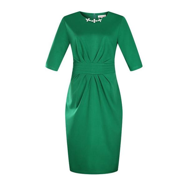 Sommer mit Rundhalsausschnitt plus Größen-Kleid mit Schößchen beiläufigem Bleistiftrock mit Reißverschluss Multicolor Optional Got Up Abbildung Kleid