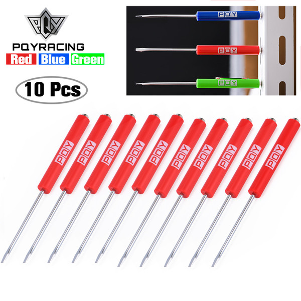best selling 10Pcs Mini Tops And Pocket Clips Pocket Screwdriver Strong Magnetic Slotted Screwdriver GJ001-QY