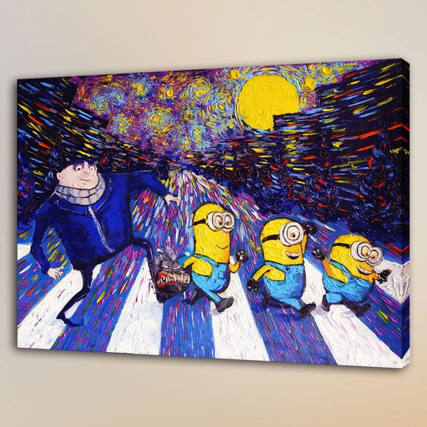 Van Gogh Small Yellow People,HD Canvas Print Home Decor Art Painting/Unframed/Framed