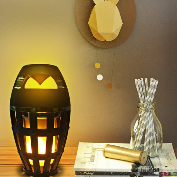 new Portable IP65 Speaker Bluetooth BT4.2 Led Flame Lamp Stereo Soft Light Outdoor Speaker For iPhone iPad Android
