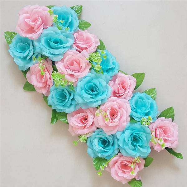 1 adet simülasyon gül ipek çiçek duvar düğün dekorasyon yol kurşun gül yapay çiçek standı platformu çelenk kapı zemin düzenleme