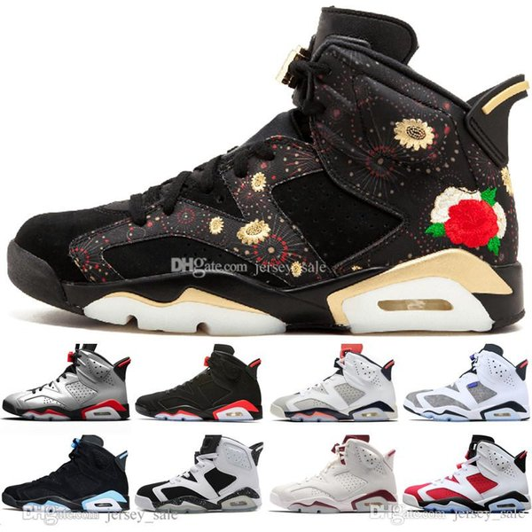 Hot 2019 Infrared Bred 6 6s Mens Basketball Shoes 3M Reflective Tinker Flint Sport Blue White Cement Carmine Men Sneakers Designer Trainers