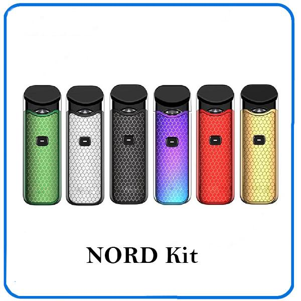 Nord Starter Kit 1100mAh Batteria 3ML Cartuccia elettronica Atomizzatore con bobina Nord Mesh Sigaretta elettronica Kit Vape novo pod 0266109