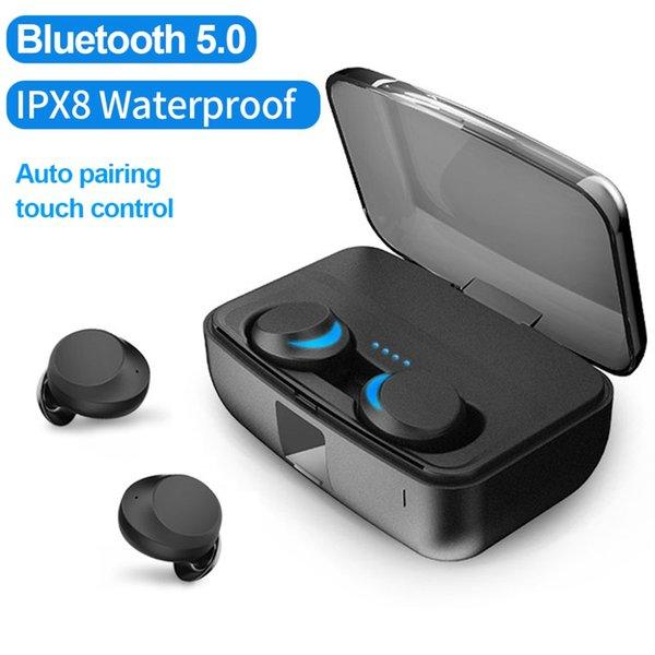 TWS IPX8 Su Geçirmez kablosuz kulaklık bluetooth5.0 Dokunmatik Kontrol Kulaklık mini kulak kulakiçi iPhone XS için Otomatik Eşleştirme max