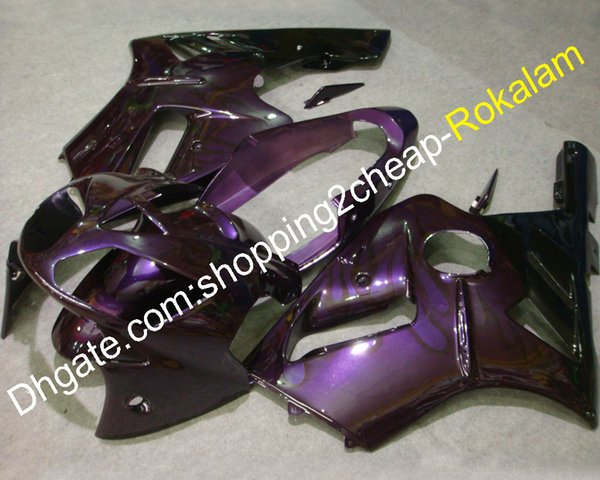 Kit carénage flamme violet ZX12R pour Kawasaki Ninja ZX 12R 2002 2003 2004 Carénages ABS ZX-12R (moulage par injection)