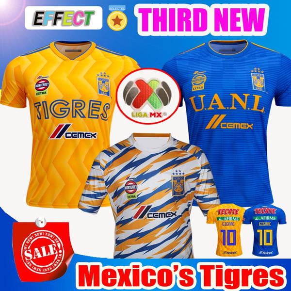 bb3a09db7 2018 2019 UANL TIGRES New Third DE LA Soccer JERSEYS 18 19 Mexico Club LIGA  MX Maillot De Foot Home Yellow 6 star GIGNAC football shirts