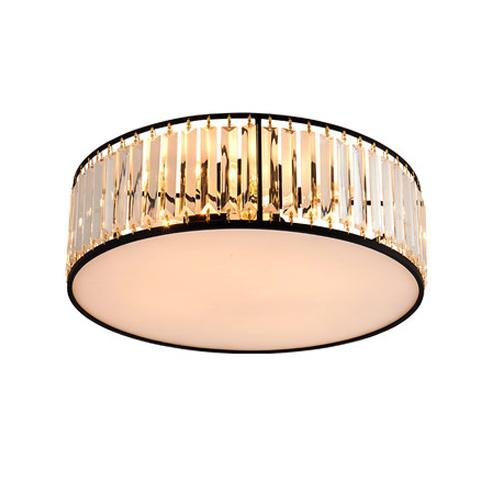 Modern American crystal ceiling chandeliers lamps round black led ceiling chandelier lights ceiling lighting fixtures for home decorations
