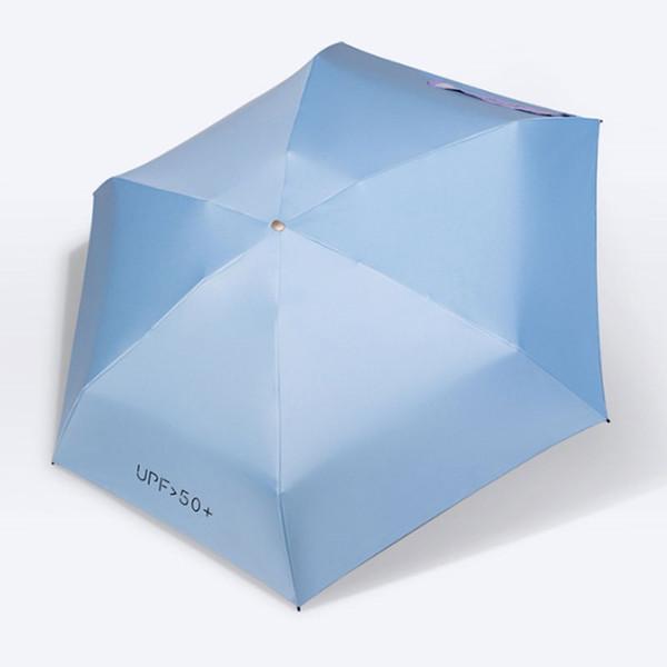 No automáticos Cinco Paraguas Plegables Protector Solar Opaco Color Pegamento Parasol Ultra Ligero Paraguas Paraguas Sombrilla Paraguas Pequeño