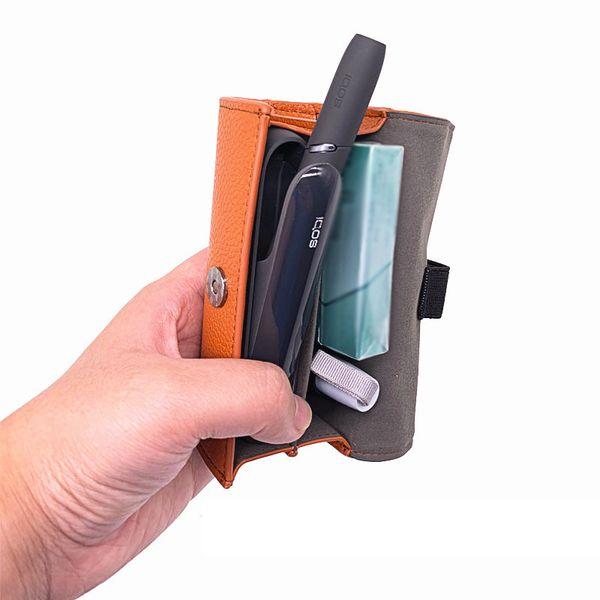 Custodia portaoggetti in pelle per dispositivo kit iQOS Custodia protettiva tasca borsa per accessori per sigarette elettroniche iQOS OEM all'ingrosso