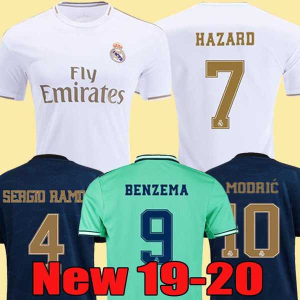 top popular 2019 2020 Real Madrid Soccer Jersey HAZARD home away adult soccer shirt ASENSIO ISCO MARCELO madrid 19 20 kids kit Football uniforms 2019