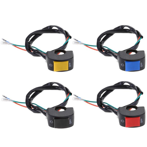 VODOOL 1Pcs 12V 7/8in Motorcycle Handlebar On/Off Switch for LED Headlight Fog Light Car Styling Switch High Quality VODOOL 1Pcs 12V 7/8in