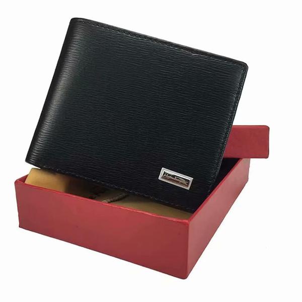 2020 Portefeuille Portefeuille court en cuir pour hommes Mode Porte-monnaie Homme carte de crédit Porte-cartes Porte Photo Prix de gros