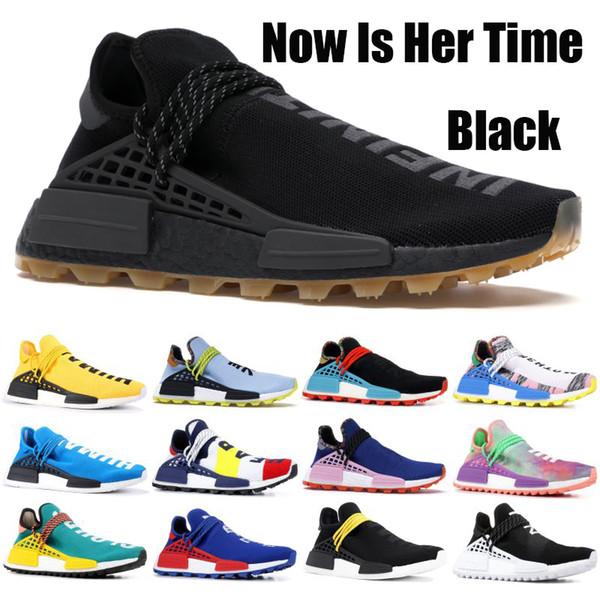 best selling Human Race Mens Womens Designer Shoes Black Solar Yellow Hu NMD Pharrell Solar Pack Mother Inspiration Cream White Burgundy Running Sneakers