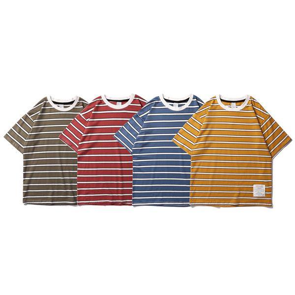 2019 New Arrival Men T-shirts Cotton Classic Crew-neck Tops Unisex Men Women Couple Blouse Summer Beach Cool Clothing Tops Outdoor Poloshirt