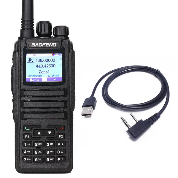 Baofeng DM-1701 Walkie Talkie Dual Time Slot DMR Digital Tier1&2 3000 Channels with SMS Function DMXS Ham Radio DM5R+USB Cable