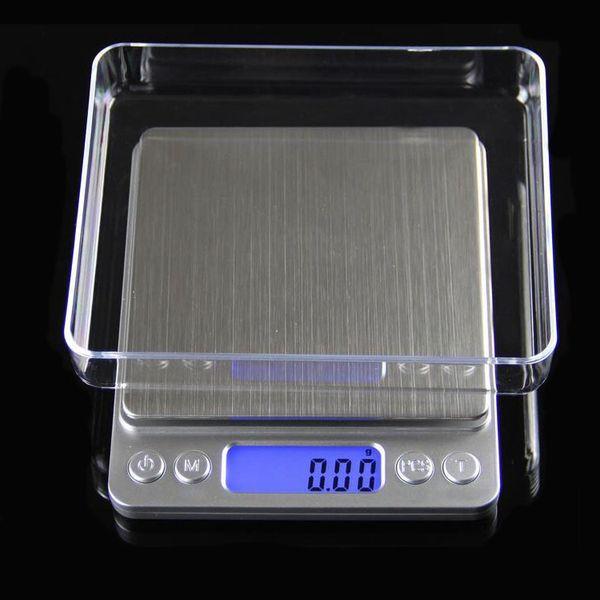 Joyería digital portátil Precisión Báscula de bolsillo Básculas de pesaje Mini LCD Básculas electrónicas de peso balanza 500 g 0.01 g 1000 g 200 g 3000 g DHL