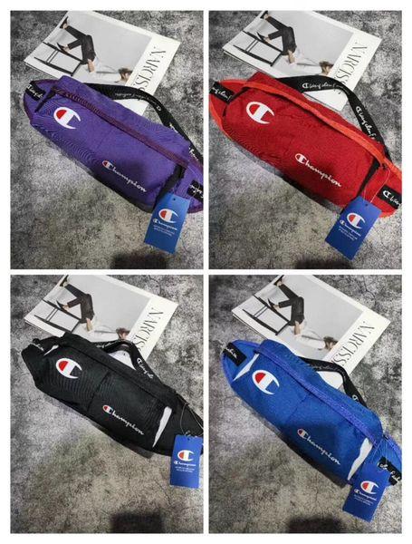 Campeón de los hombres de primera clase Bolsa de cintura Diseñador bandolera Logo de lujo Sling Hombro Paquete Costura Marca Bolsa de viaje al aire libre Purse C62403