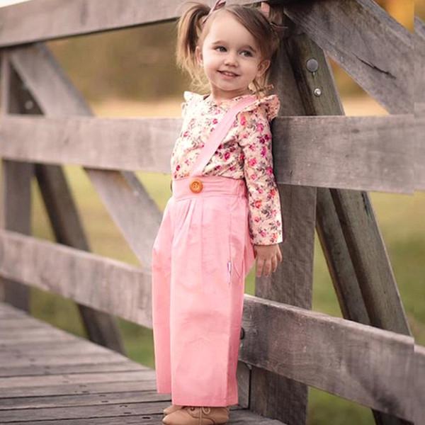 MUQGEW Mode Baby Mädchen kleidung 2 Stücke Langarm Floral Tops + Solide Overalls Hosen Kleidung Outfits Winter kleidung conjunto meni