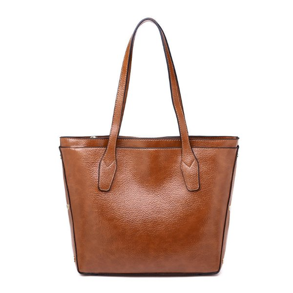 good qualityBags For Women Fashion Women Leather Handbag Brief Shoulder Bags Gray /black Large Capacity Handbags Tote Bags