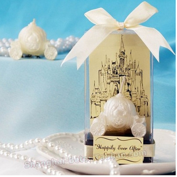 Romantic 175pcs wedding favor candle gifts for guests - Happily Ever After Carriage Candle Favor baby shower party