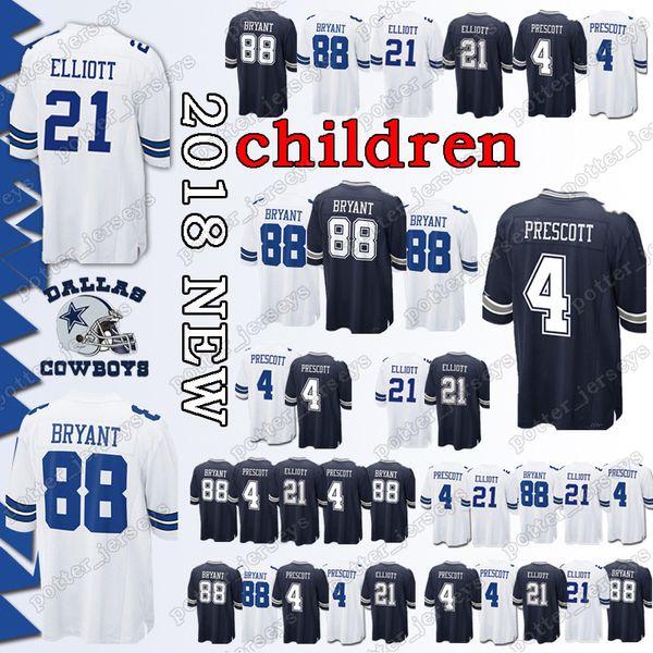 2019 Youth Dallas Cowboys 21 Ezekiel Elliott Jerseys 4 Dak Prescott 88 Dez Bryant Jersey Cheap Sales Top Quality From Potter Jerseys 21 81