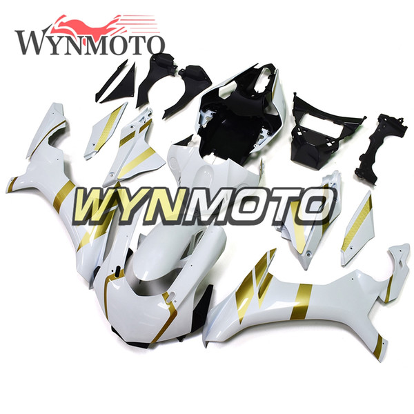 Motorcycle Fairings For Yamaha YZF 1000 R1 2015 2016 ABS Plastic Injection White Gold Strips motorbike cowlings Covers Sportbike Kits