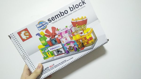 12 Styles Mini City Street View Scene Mini Building Blocks Series Coffee Shop Retail Store Architectures Models Assembly Building Blocks Toy