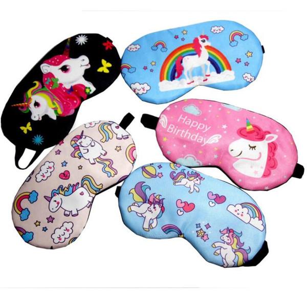 Unicorn Sleeping Mask Blindfold Sono Tampa Do Olho Para Homens Mulheres Sombra de Olho Macio Viagem Dormir Capa Natural KKA6872