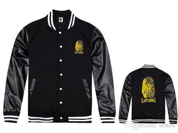Lastkings nuevas chaquetas de la ropa de hip hop del envío libre para la venta de espesor de descuento nuevo estilo de moda chaqueta de cuero hiphop capas de béisbol