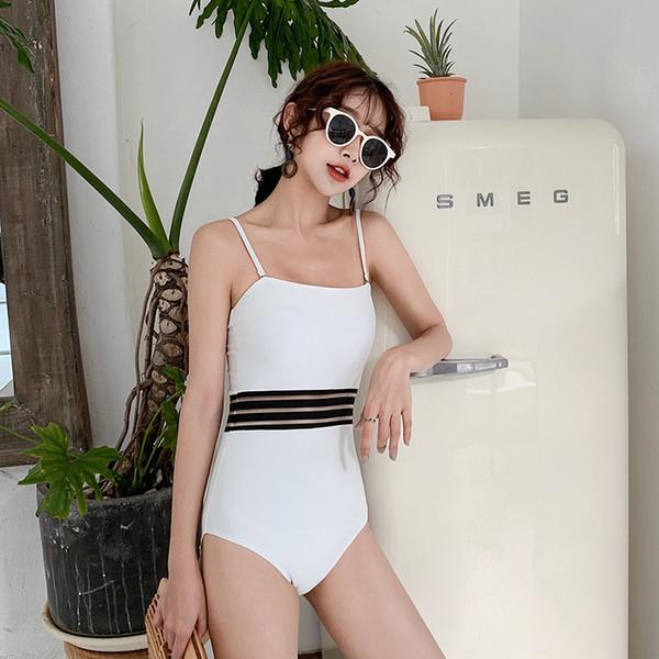 Maillot de bain une pièce Femme maillot de bain avec maillot de bain push up 2019 Maillot de bain blanc Taille Couverture Animal Linen Sierra Surfer Femmes Été