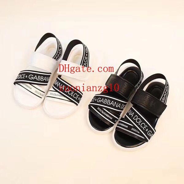 Summer Fashion nouveaux sandales de plage pour enfants à bout ouvert pour garçons et filles à semelles antidérapantes de style simple
