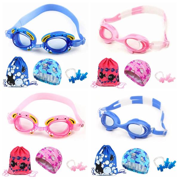 7 Children Swimming Mirror Cartoon Fish Swimming Mirror Package Boys and Girls Waterproof and Fog-proof Equipment for Children