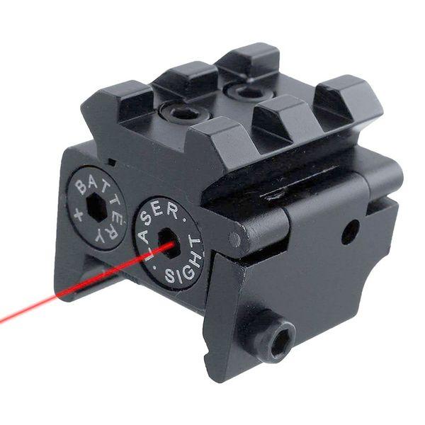 Einstellbare Mini Red Dot Laser Visier Compact mit abnehmbarer 20mm Schiene für Pistole Airsoft Gewehr Jagdzubehör