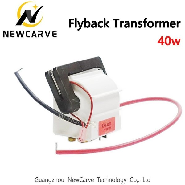 40w High Voltage Flyback Transformer For 40w CO2 Laser Power Supply Parts Newcarve