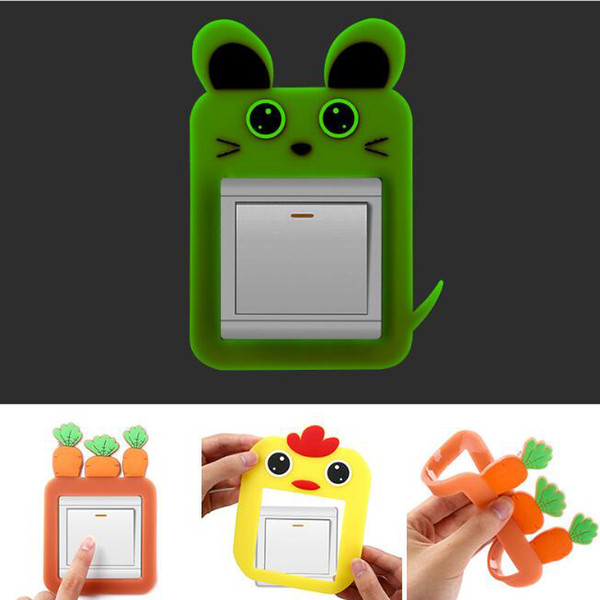 cartoons luminous switch stickers glow in the dark wall stickers home decorative stickers kids room decoration sticker decal