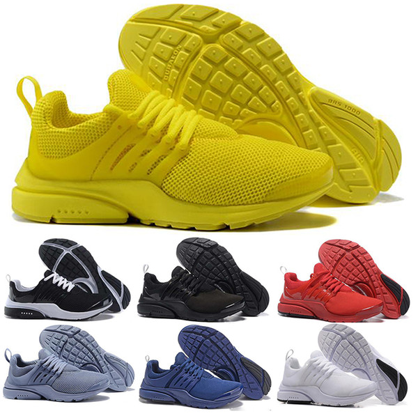 2018 Running Shoes Fine Mesh Breathable Presto Blackout Cheap Sneaker Red Navy Blue Triple White Black Fall Olive size eur 36-46