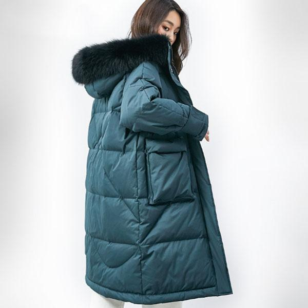 95% white duck down jacket 2019 women winter jacket long thick coat for women hooded down parka warm female clothes waterproof