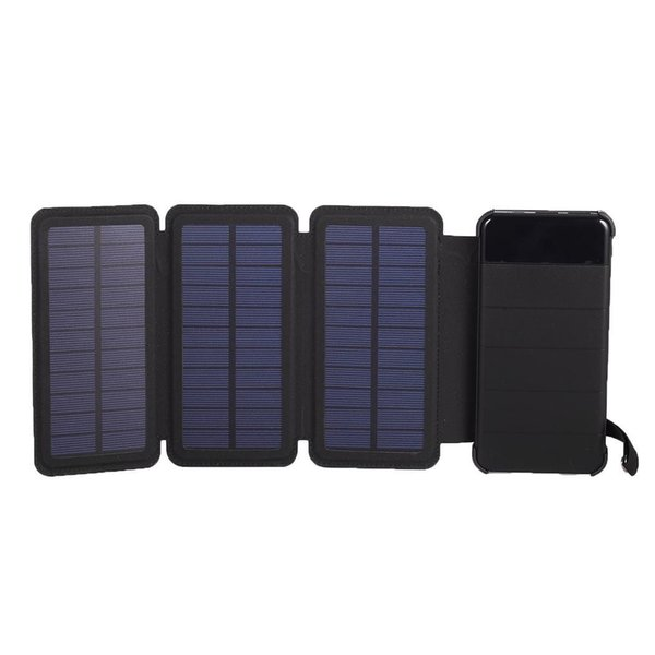 10000mah Solar Powerbank Foldable Dual USB Solar Panel Power Bank Charger Outdoor Poverbank For Xiaomi MI iphone X Note 8