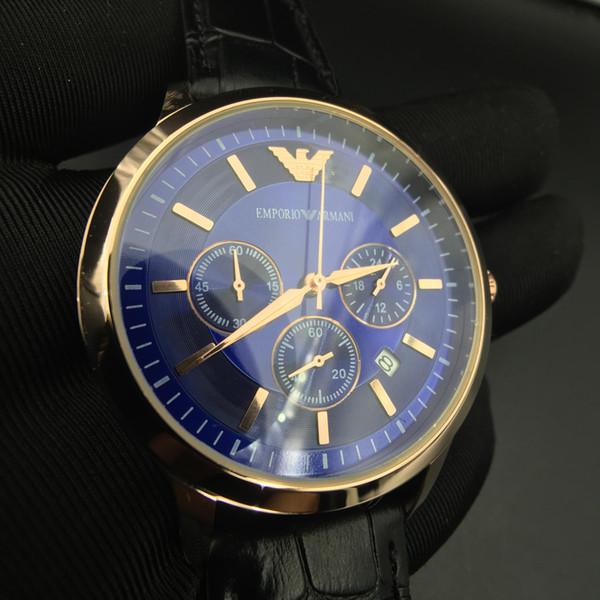 Promotion des ventes Rome Numéro AM Marque Classique Hommes Rétro Montres Quartz Horloge calendrier cuir imperméable affaires Wristwatch