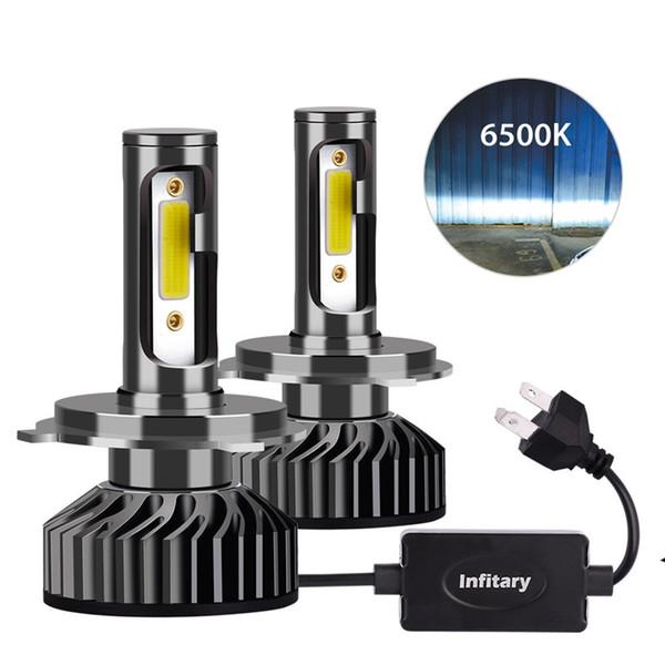 Phare de voiture H7 LED H4 LED H1 H11 H3 H13 H27 880 9006 9007 9007 72W 8000LM 6500K 12V 24V Auto Projecteur COB Ampoule antibrouillard lumière de voiture