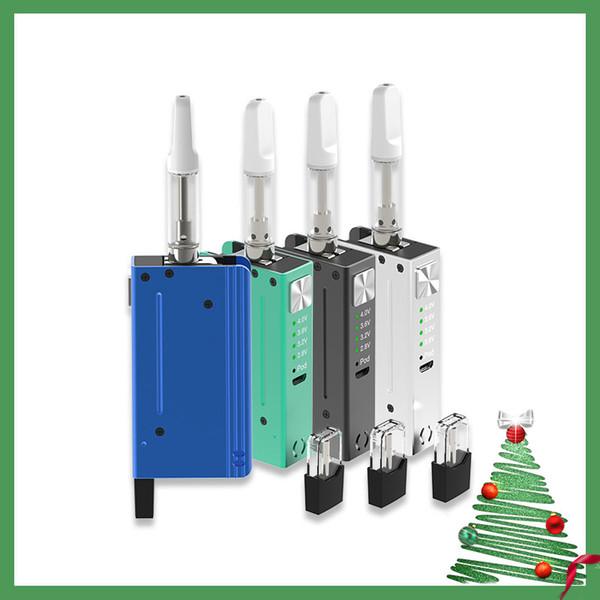 2020 New Design Vape Pod & Oil Cartridge 2 In 1 650Mah 4.0V High Voltage Big Puff Oil Vaporizer Best Vape Device