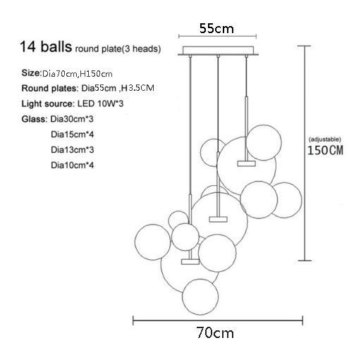 Base rotonda a 14 sfere