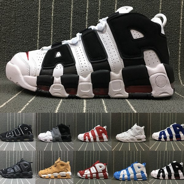 New Air More Uptempo 96 QS Sneaker Mens Basketball Shoes For Men Womens Trainers Sport Scottie Pippen Shoes Uptempos Sneakers Size 13