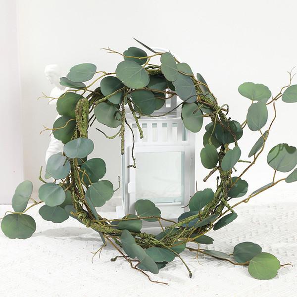 Green Plant Leaf Artificial Plants Room Office Decor Green Simulation Rattan Fern Leaf Vines Fake