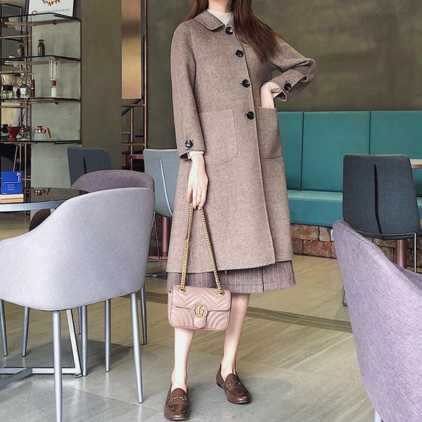 New hot Double Hair Buddhist Overcoat winter jackets for bomber print sport baseball styles brands fashion women Wool blazers cardigans coat
