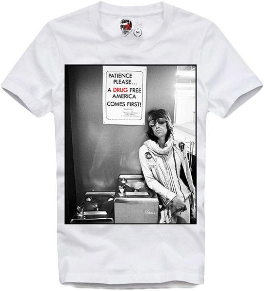 E1Syndicate T Shirt Keith Richards Stones Noir Sabbat Deep Purple Konzert T-shirt À Manches Courtes T-shirt Avec Imprimé Amusant