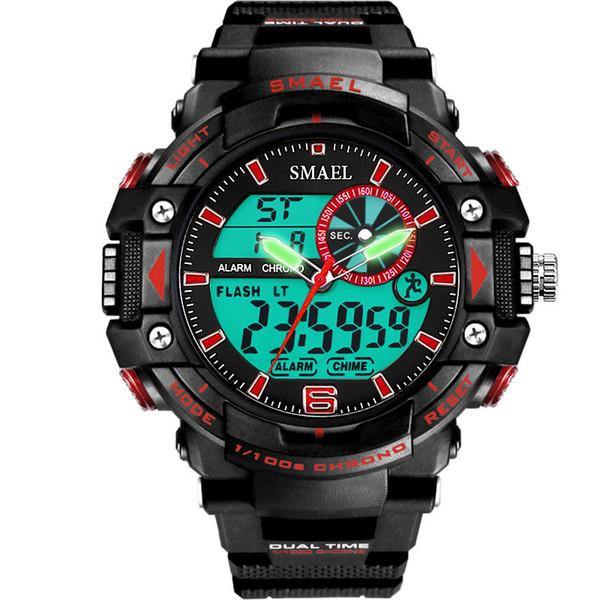 BRW Brand Digital Mens Watches LED Big Dial Army Military Watch Men Waterproof Sport Wrist Watch Male Clock relogios masculino
